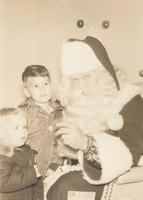 1955 Mike & Rick Christmas with Santa